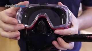 Набор для плавания TUSA (Япония): маска + сухая трубка, черно - синий металлик от компании МагазинCalipso dive shop - видео