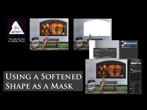Using a Softened Shape as a Mask in Affinity Photo