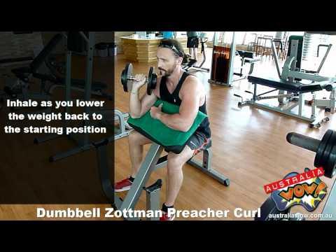 Dumbbell Zottman Preacher Curl
