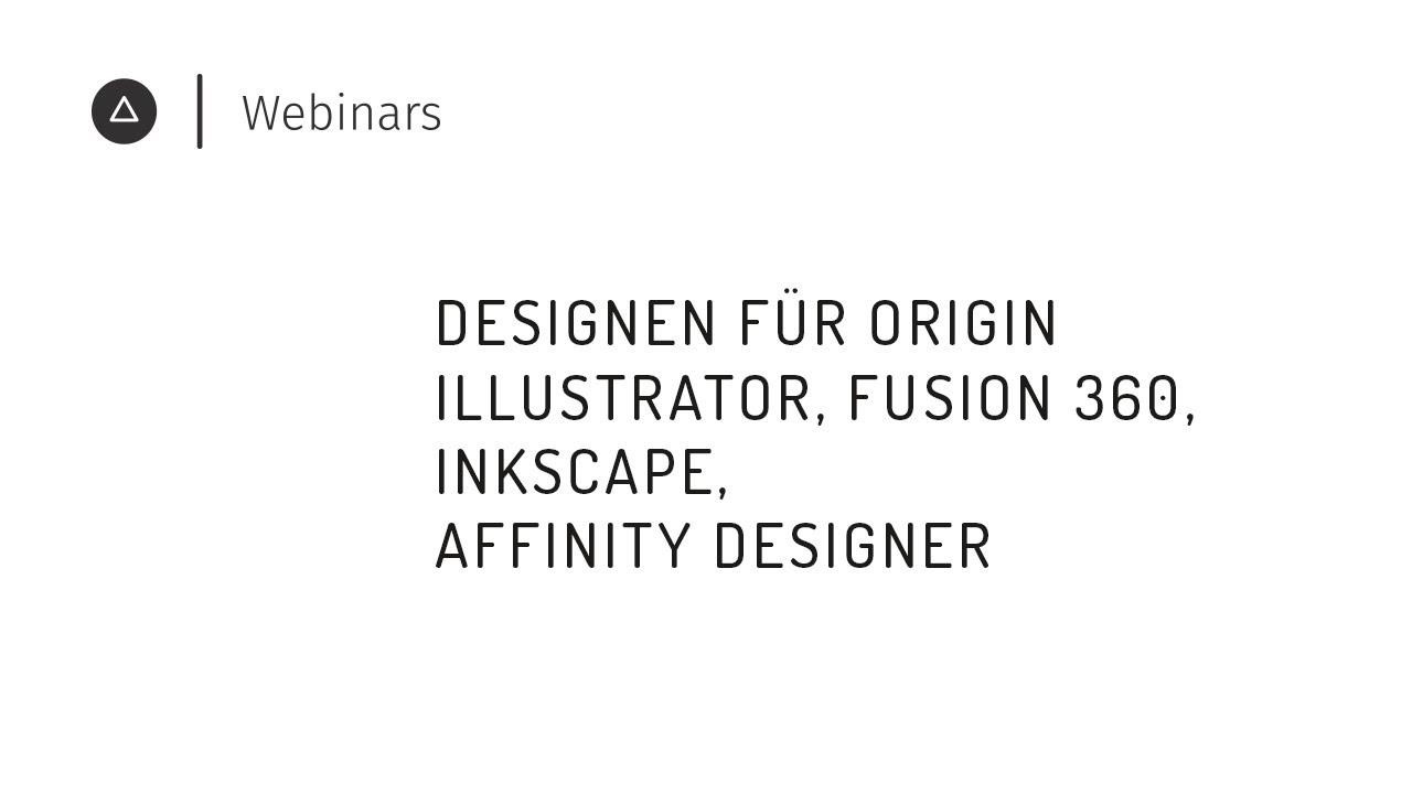 Illustrator, Fusion 360, Inkscape & Co.