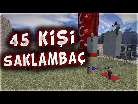 45 KİŞİ SAKLAMBAÇ OYNADIK SİZLERLE BERABER EFSANE OLDU !!! (CS:GO)