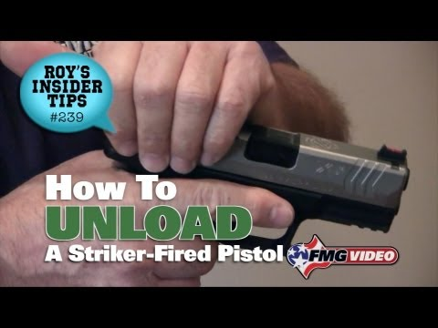 How To Unload A Striker-Fired Pistol
