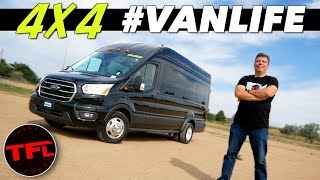 This Giant 4x4 Ford Transit Blows Me Away With Speed and Monstrous Traction! Twin-turbo #Vanlife