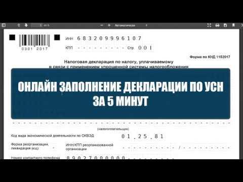Заполнение декларации по УСН онлайн. Авторасчет значений