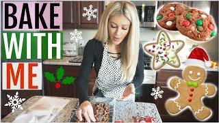 HOLIDAY BAKE WITH ME | 3 CHRISTMAS COOKIE IDEAS 🎄