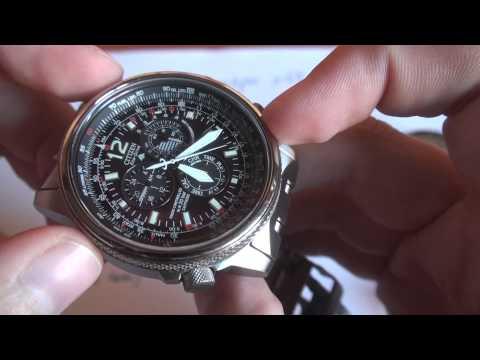 Función taquímetro en un reloj piloto - Citizen AS4050-51