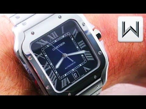 SIHH 2019: Cartier Santos de Cartier XL Blue Dial (WSSA0013) Luxury Watch Review