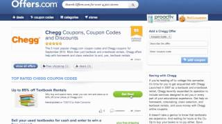 Chegg Coupon Code 2013 - How to use Promo Codes and Coupons for Chegg.com