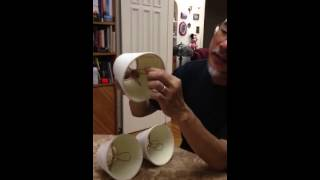 How to put lamp shade in a compact fluorescent light bulb.