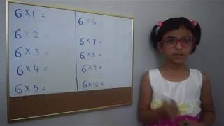 Trick to learn 6 times table for kids