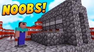 THE BIGGEST NOOBS EVER! | Minecraft TNT WARS! w/ LandonMC
