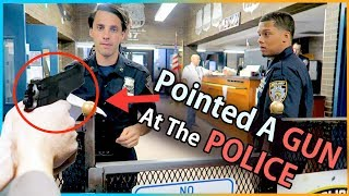 We Took A GUN To The POLICE STATION !! - Video Youtube