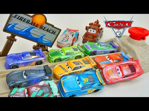 Cars 3 Fireball Beach Racers New Sandy Next Gen Race Cars And Mater Pranks Them!