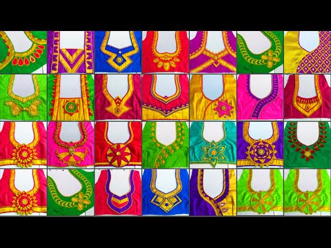 25 Beautiful back neck blouse designs 2019 || Women's fashion blouses || Madhus Fashion ||