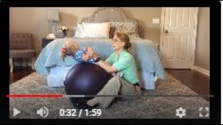 #102 Ball Sit-ups: Exercises for a Baby with Low Tone