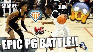 SHARIFE COOPER vs ZION HARMON!! Epic PG Battle GOES DOWN in Dallas   AOT vs Boo Williams