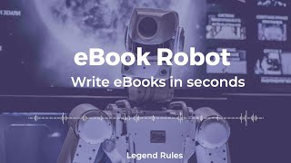 Aera Robot 1.0 Demo 🔥🔥 World's First Robot that can write any full eBook (any topic) automatically