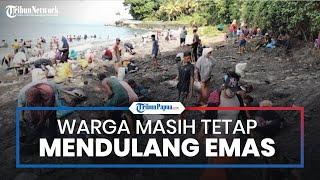 Meski Sudah Dilarang, Warga Tamilouw Maluku Tengah Masih Tetap Nekat Mendulang di Pesisir Pantai