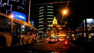 Video : China : ShangHai 上海 night-time taxi ride