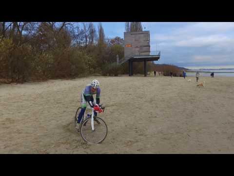 Das SportPunk - Biehler Sportswear Radtrikot von Drohne gefilmt