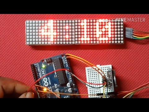 Arduino and Max7219 LED MATRIX Clock with RTC DS1307