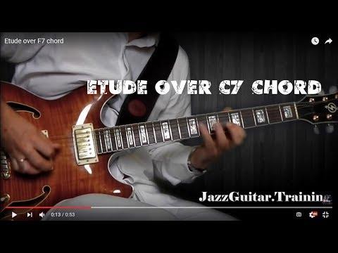 Guitar solo etude over C7 chord