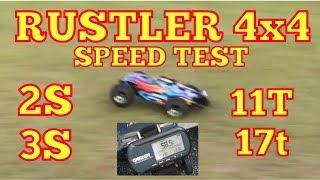 Rustler Speed Runs Grass and Pavement