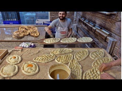 Making traditional Turkish Ramadan bread