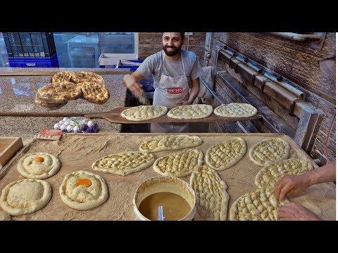 Making traditional Turkish Ramadan bread