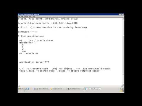 Oracle E-Business Suite - Technical Basics - YouTube