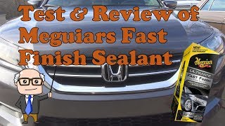 Test and review of Meguiars Fast Finish