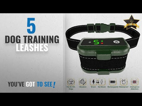 Top 10 Dog Training Leashes [2018 Best Sellers]: [NEWEST 2018] RECHARGEABLE Bark Collar - Smart