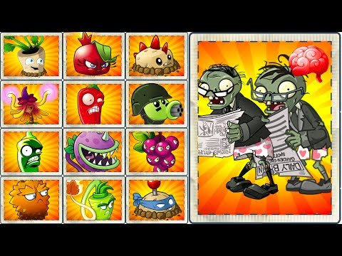 Plants vs Zombies 2 New Edition Newspaper Zombie vs All Plants Power UP Challenge