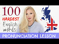 100 HARDEST English words pronunciation practice lesson with definitions Learn British English