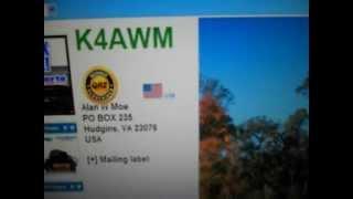 K4AWM- Alan W Moe-Virginia-USA- 23:01 utc - 09-Mar-2013- 20 meters band