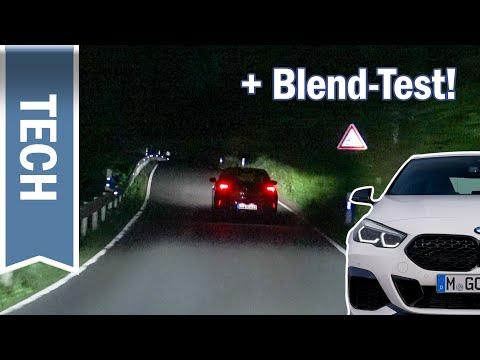Adaptive LED-Scheinwerfer im 2er & 1er BMW im Test: Nachtfahrt mit Selective Beam & Blend-Test