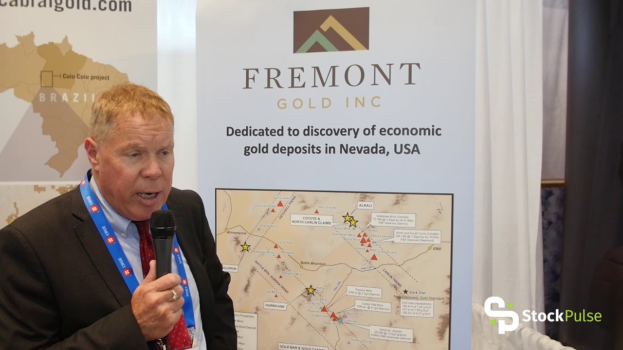 Fremont Gold Catalyst Clip with President & CEO Dennis Moore at the 2018 PDAC in Toronto