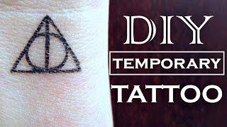 DIY Temporary Tattoo - Harry Potter | How To Make A Fake Tattoo