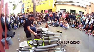 Шок на улице / Уличные музыканты - Талантливые барабанщики.