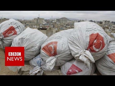 Inside rebel-held Syrian town near Afrin frontline – BBC News