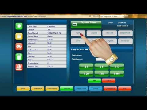 Video Demo 1 Rely POS - Using your Online Restaurant POS for the first time
