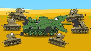 Raptor vs Turtles  - Cartoons about Tanks