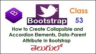 How to Create Collapsible and Accordion Elements, Data Parent Attribute In Bootstrap Telugu 53