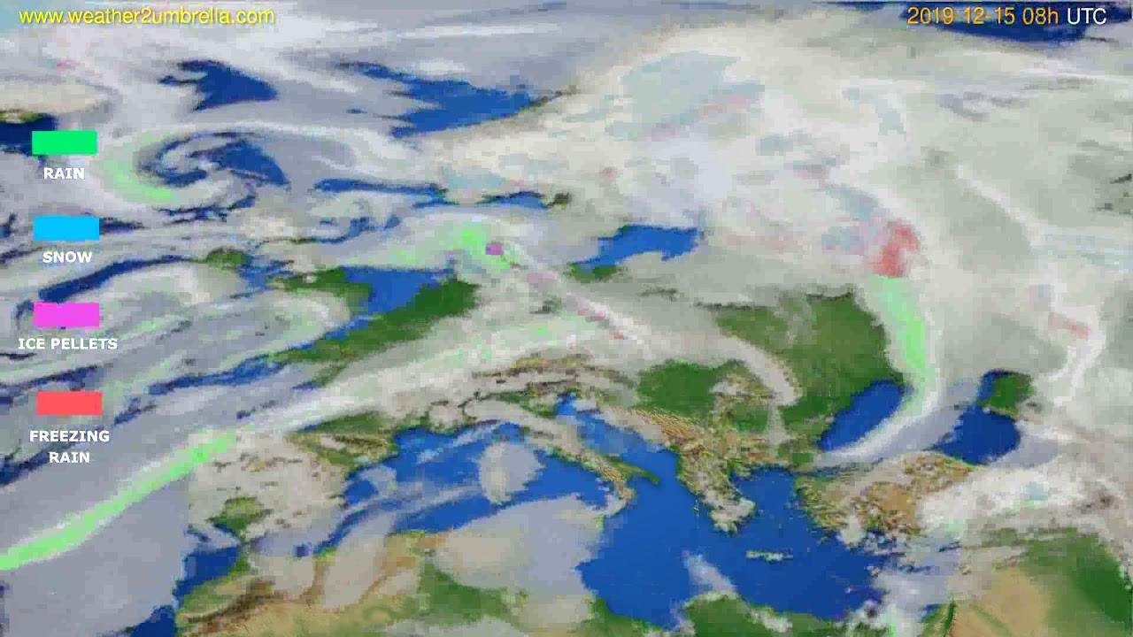 Precipitation forecast Europe // modelrun: 12h UTC 2019-12-14