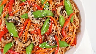 3 EASY Better-Than-Takeout Dinner Recipes   Veggie Chow Mein