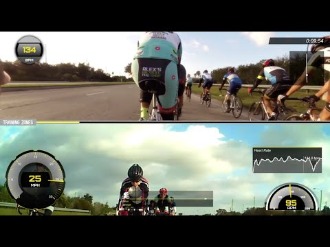 Splitscreen Garmin VIRB Front/Cycliq Fly6 Rearview