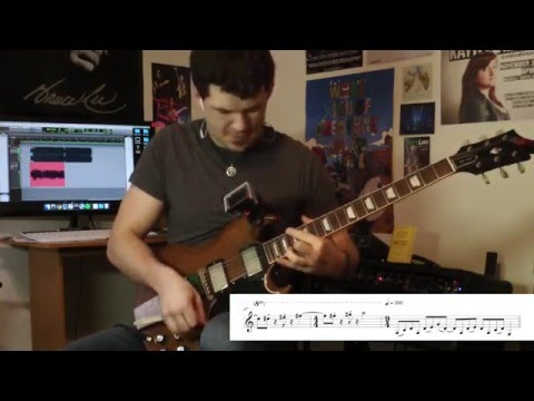 "Performing Dweezil Zappa's ""Funky 15"", complete with my guitar transcription (includes cue notes)."