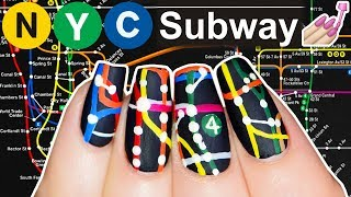 NYC Subway Map Nail Art (not clickbait, Simply Nailogical did this)