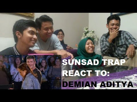 SUNSAD TRAP REACT TO: Demian Aditya Escape Artist on AGT 2017 + OUR OPINIONS (видео)