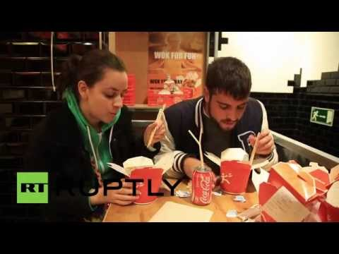 Spain: Wok out! Black Friday 49 CENT noodles were red hot in Madrid